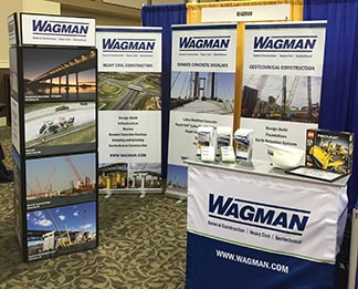 The Wagman Careers trade show display