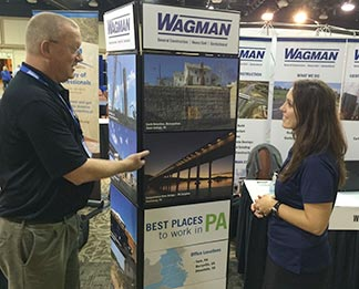 Wagman recruiters interacting with College graduates